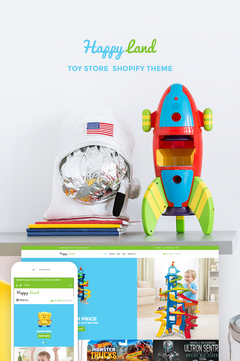 Happy Land - Toy Store Shopify Theme