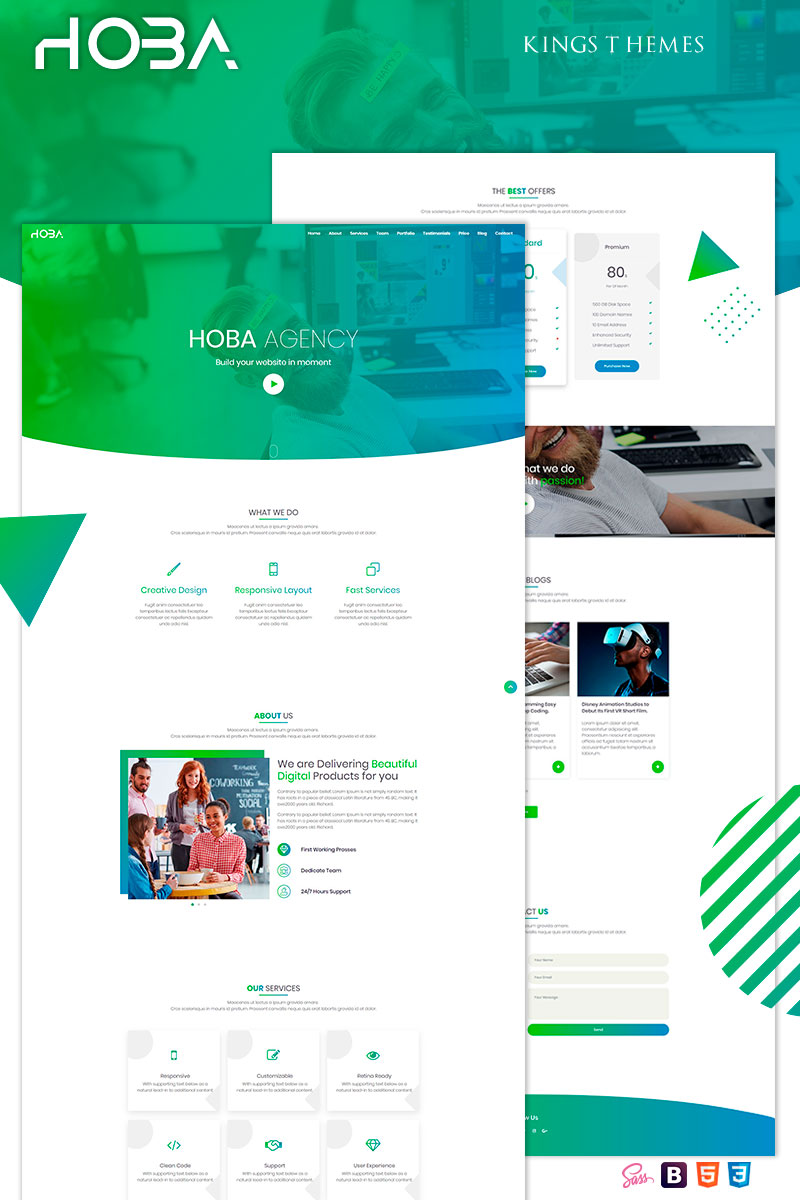 Hoba Agency Creative Landing Page Template