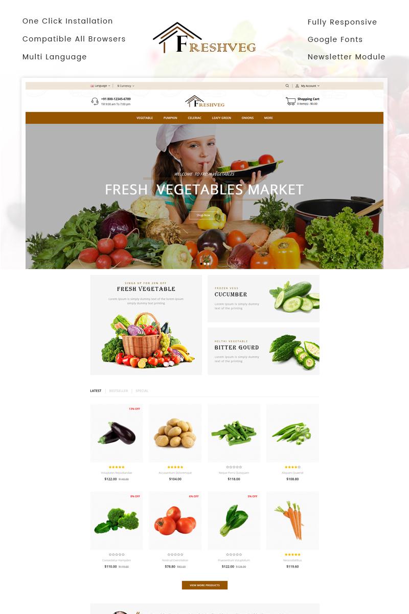 FreshVeg - Vegetable Store OpenCart Template