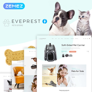 Template Animale de companie PrestaShop #74334