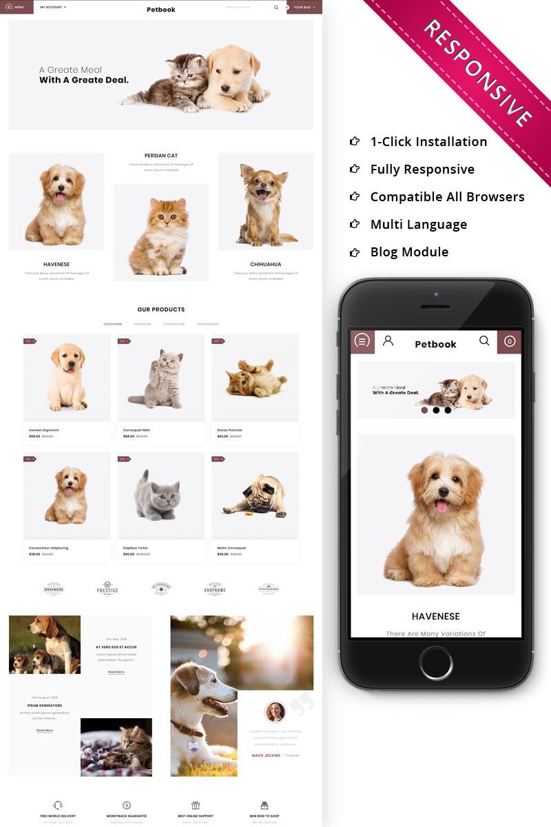 Petbook - Animal Shop Responsive OpenCart Template