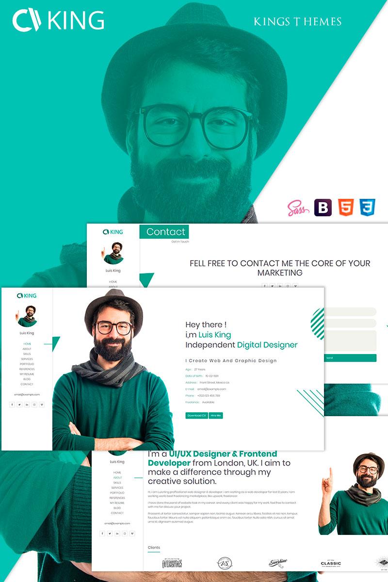 King - vCard / CV / Resume / Portfolio Landing Page Template