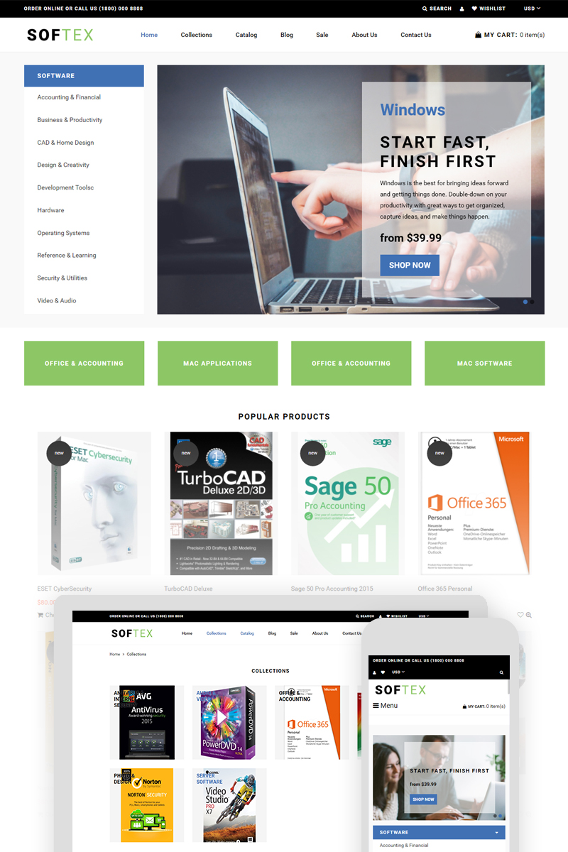 Softex - Software Store Shopify Theme