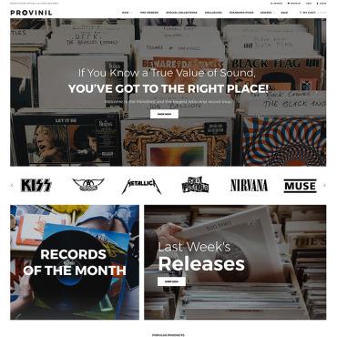 Template Muzică Shopify #74416