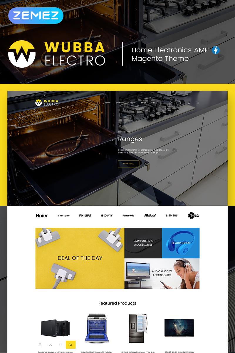 Wubba - Home Electronics Magento Theme
