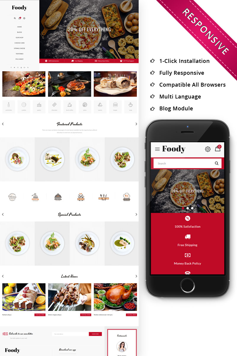 Foody - The Restraunt Store Responsive OpenCart Template
