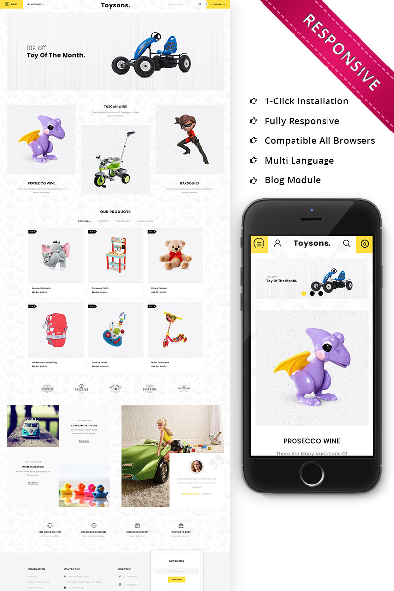 Toysons - Children Shop Responsive OpenCart Template