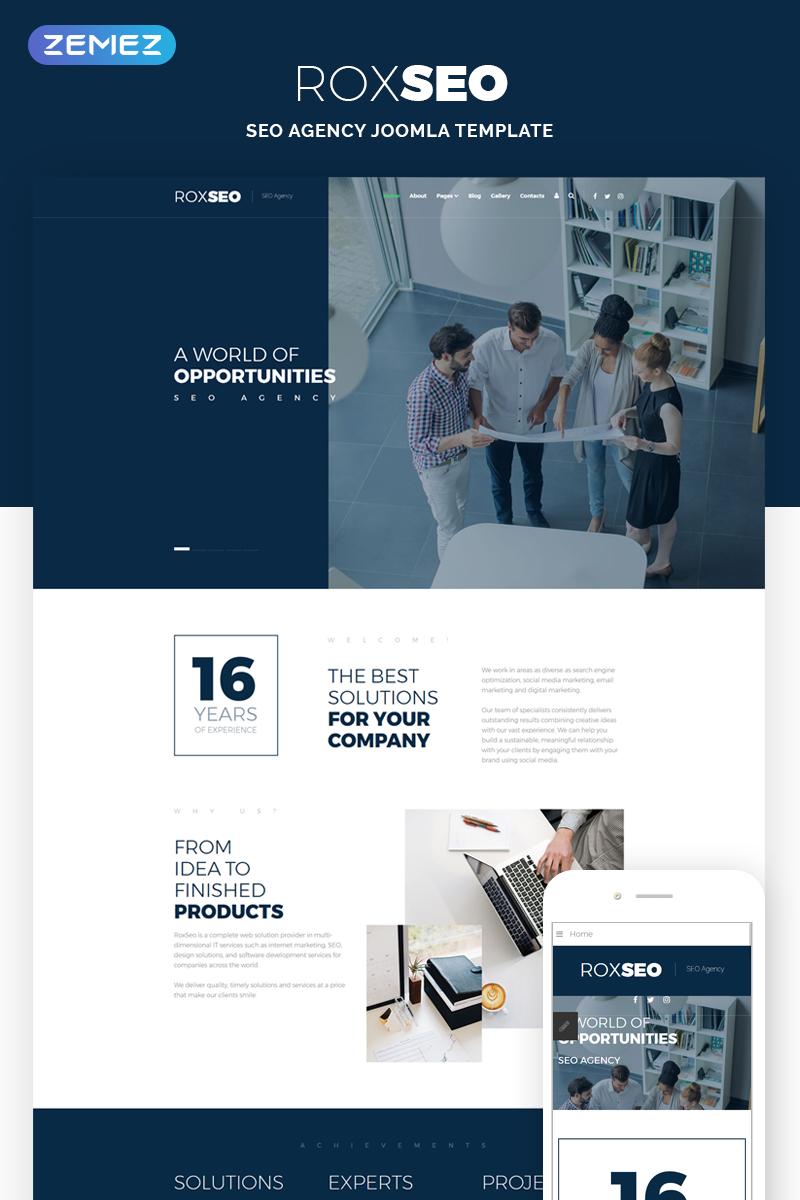 ROXSEO - SEO Agency Joomla Template