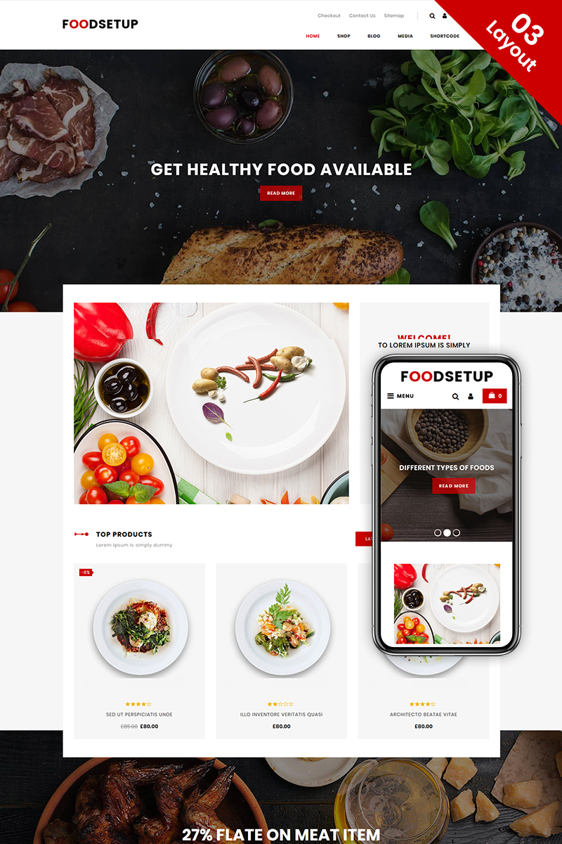 FoodSetup - Food & Restaurant WooCommerce Theme