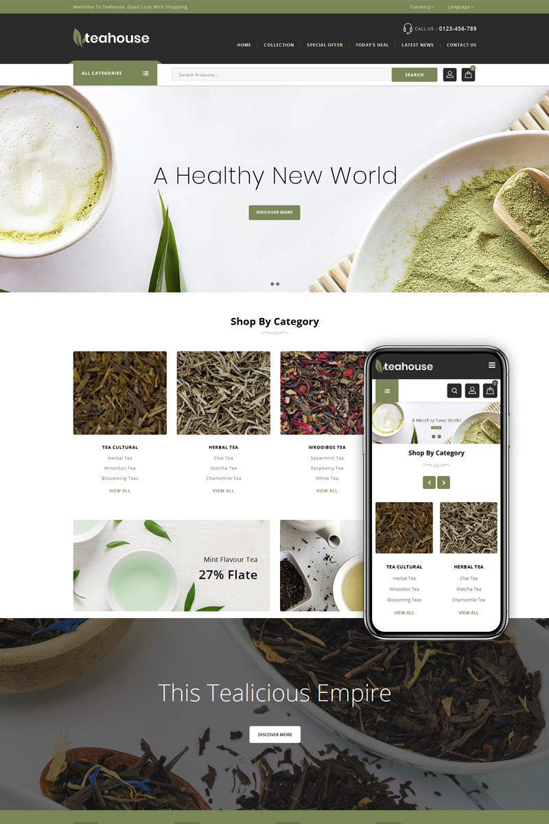 Teahouse - Multipurpose Store PrestaShop Theme