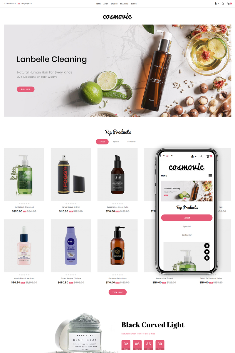 Cosmovic - Fashion Accessories Store OpenCart Template