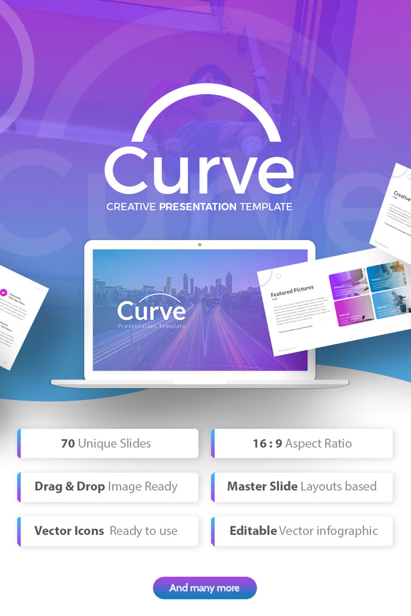 Curve - Creative Presentation PowerPoint Template
