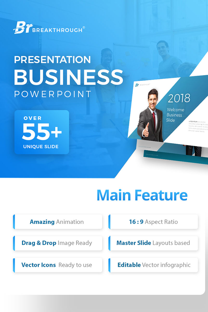 Breakthrough - Business PowerPoint Template