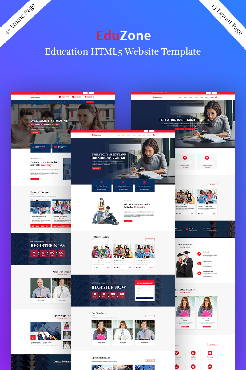 Eduzone - Education Landing Page Template