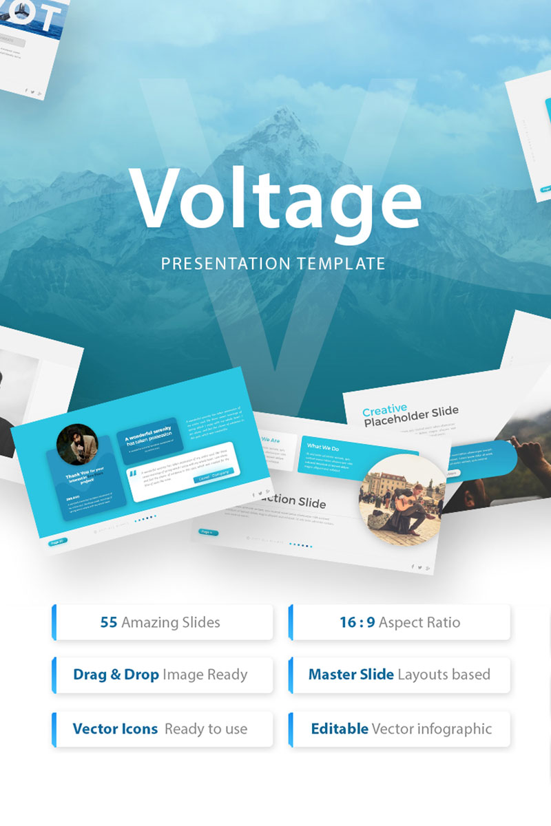 Voltage - Business Presentation PowerPoint Template