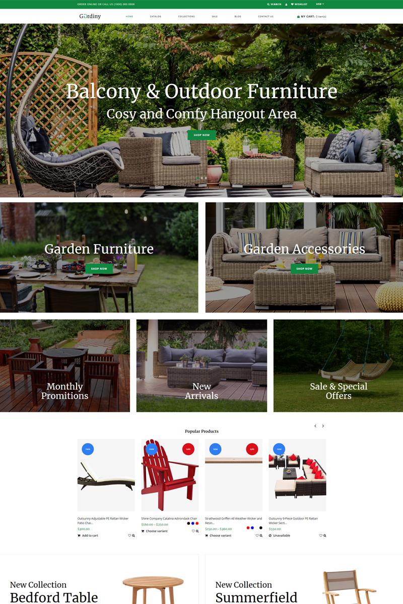 Gardiny - Clean Modern Bootstrap Shopify Theme