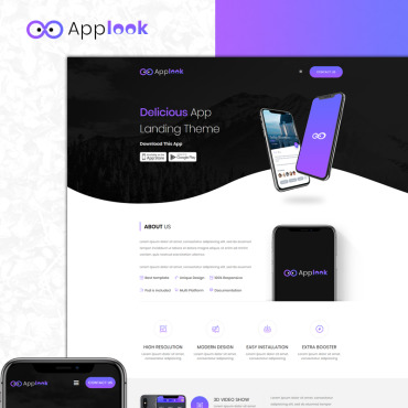 Template Software Landing Page #75526