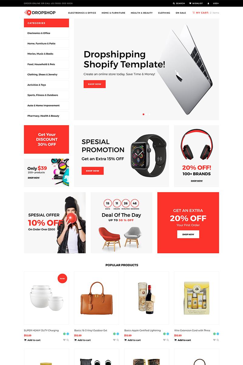 DropShop - Drop Shipping Store Modern Shopify Theme