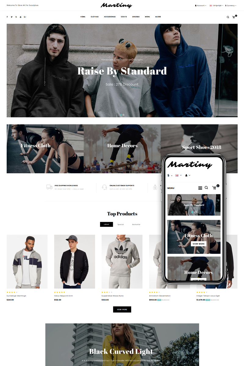 Martiny - Fashion Store OpenCart Template