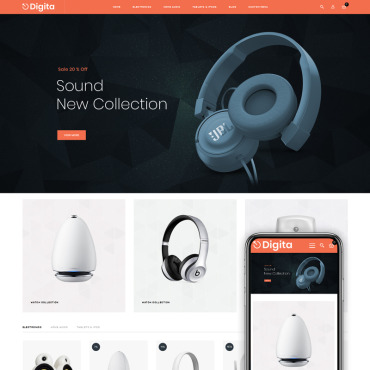 Template Electronice Magento #75587