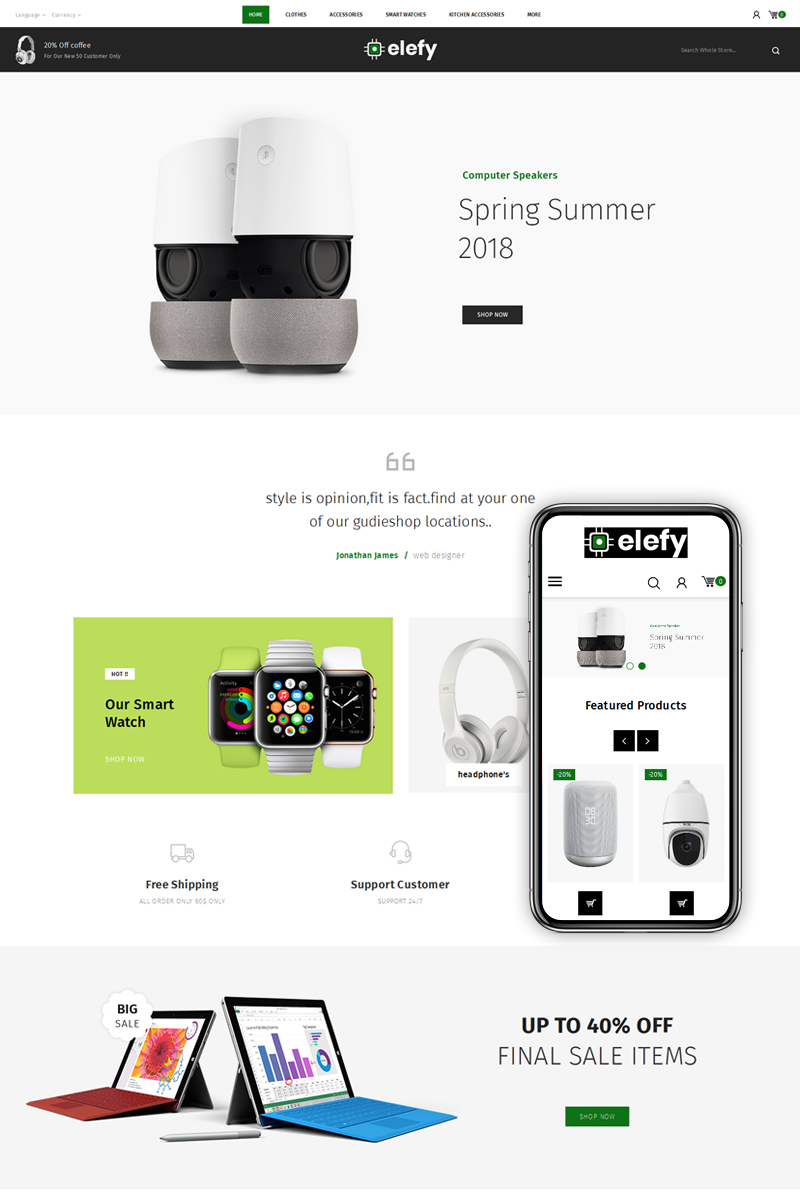 Elefy Digital Store PrestaShop Theme