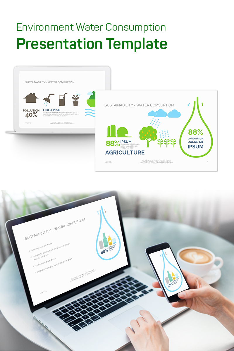 Environment Water Consumption PowerPoint Template