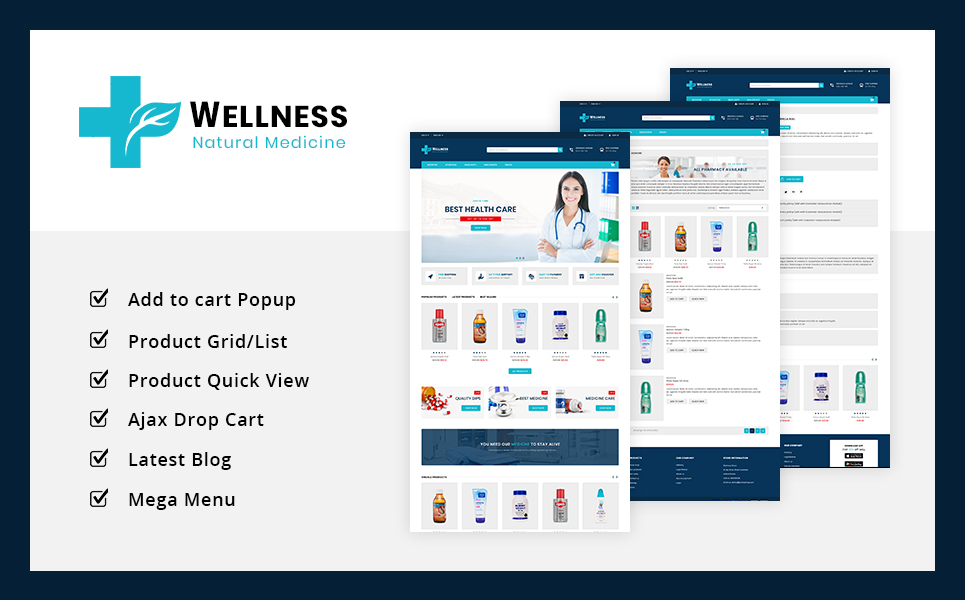 Wellness Medicine & Sanitizer  Store PrestaShop Theme
