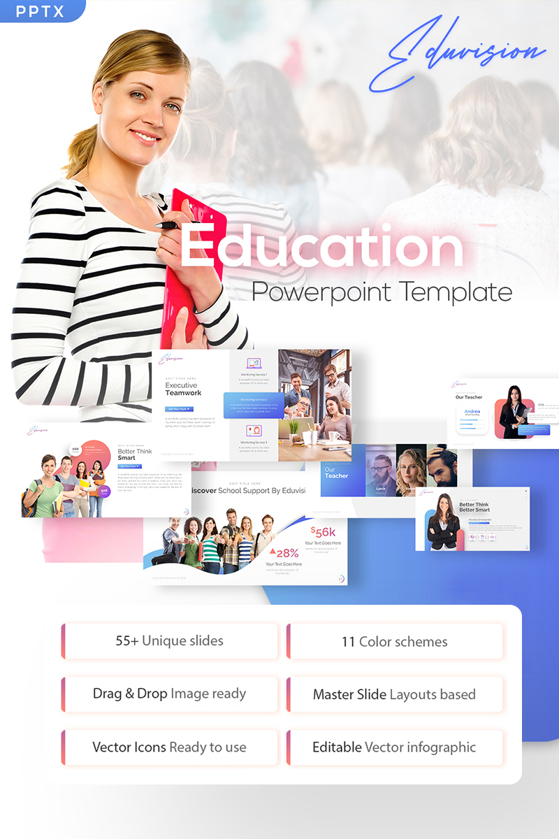 Eduvision - Education PowerPoint Template