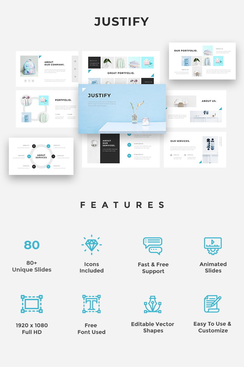 Justify - PowerPoint Template
