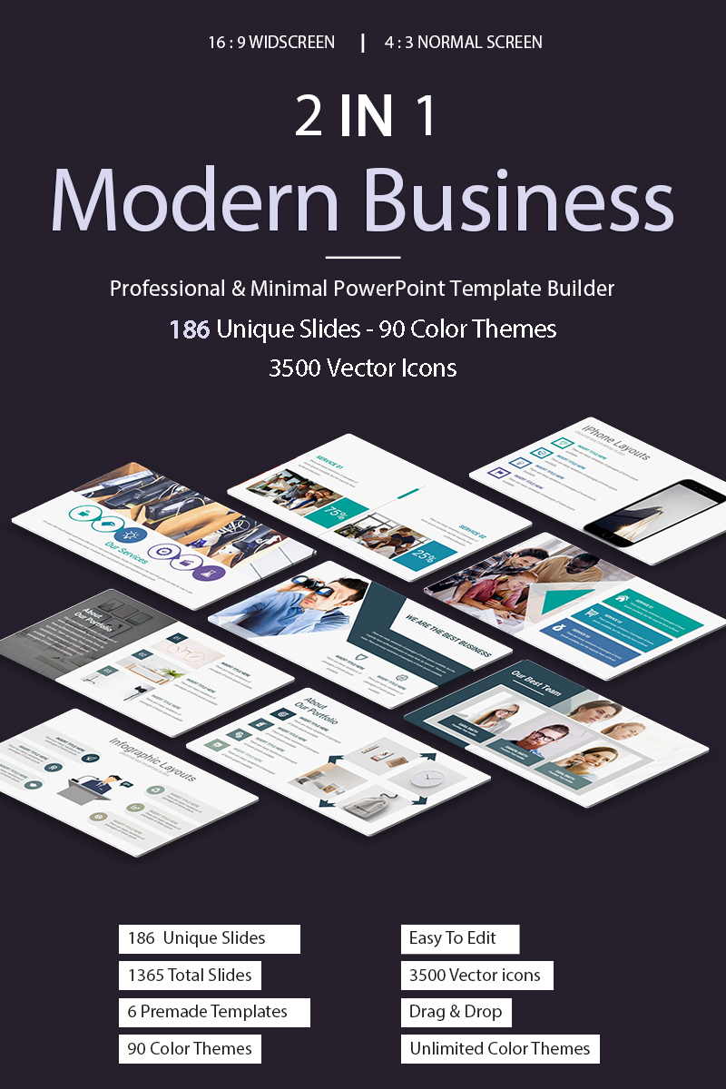 Modern Business 2 In 1 PowerPoint Template