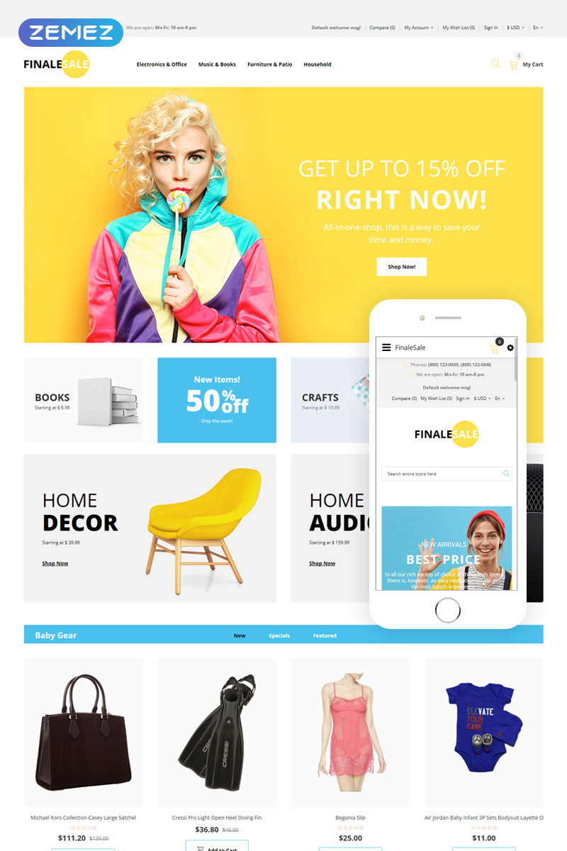 FinalSale - Wholesale Multicurrency Simple OpenCart Template