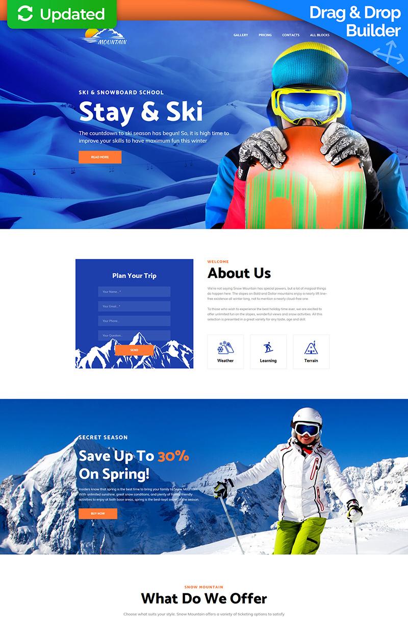 Mountain - Snowboarding School Landing Page Template