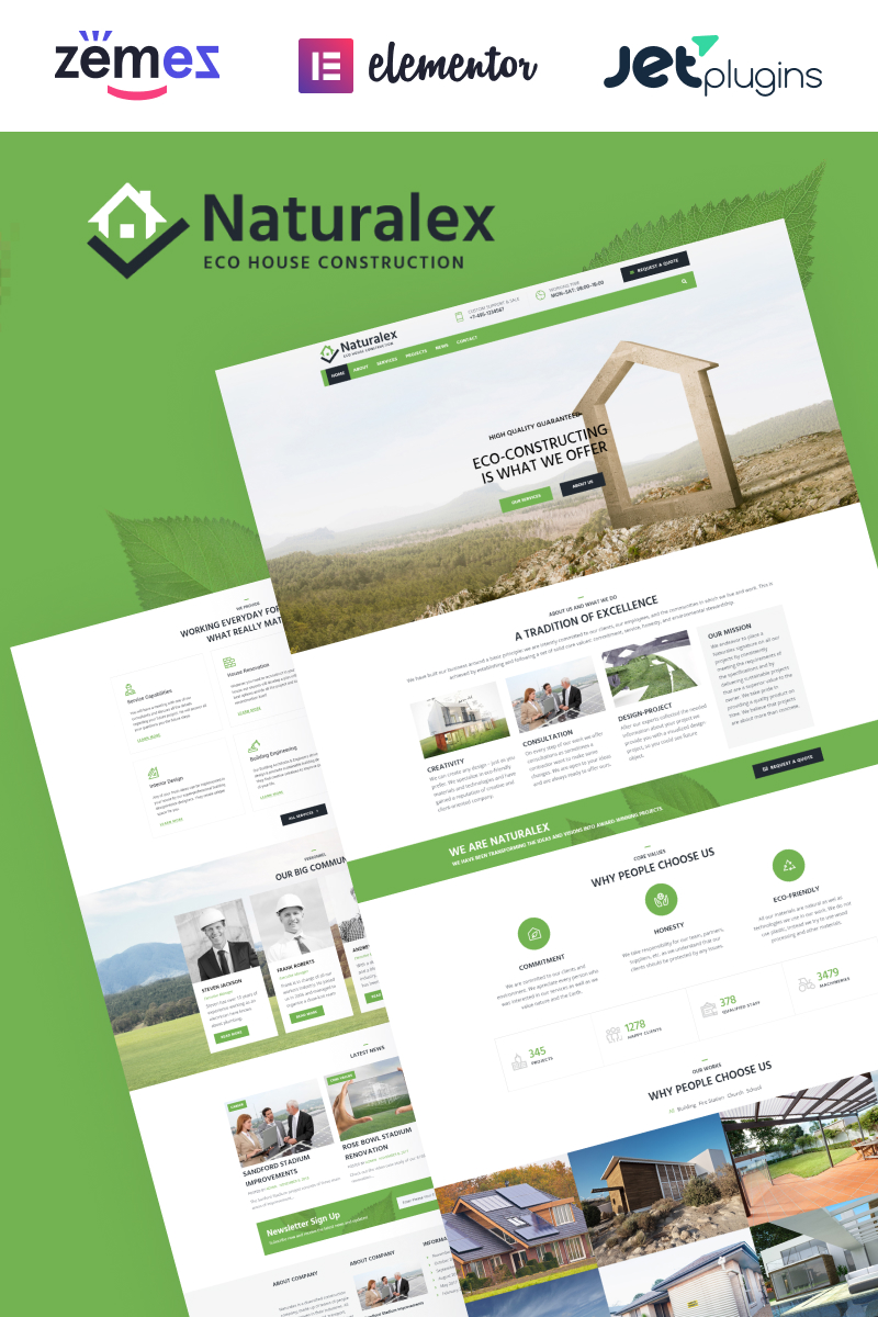 Naturalex - Construction Multipurpose Classic Elementor WordPress Theme