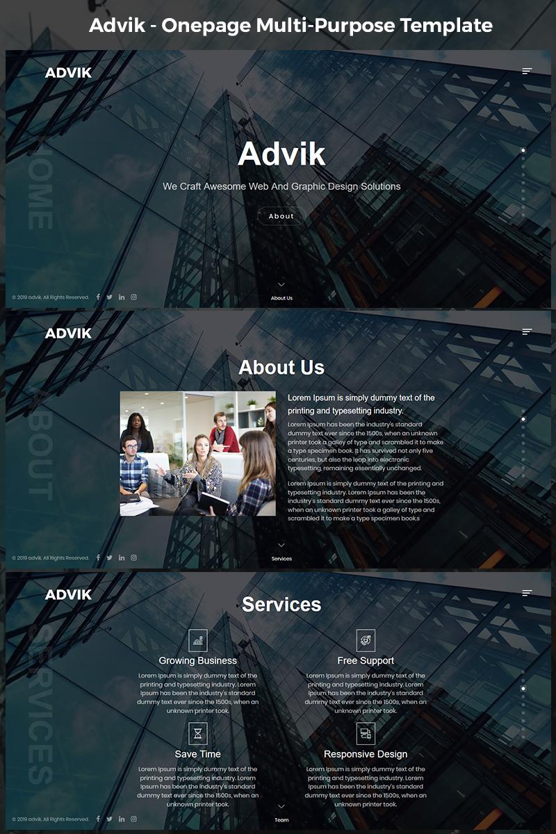 Advik - Onepage Multi-Purpose HTML5 Landing Page Template