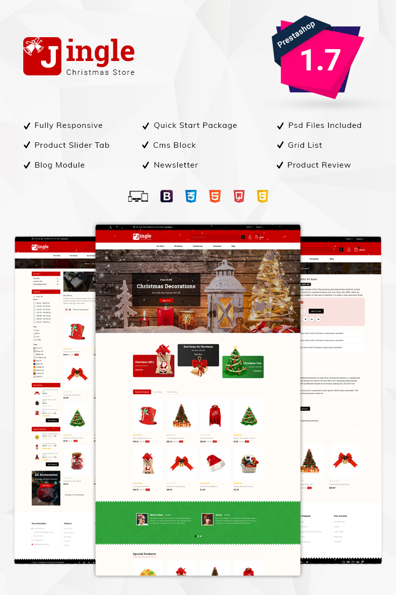 Jingle Gift Store PrestaShop Theme