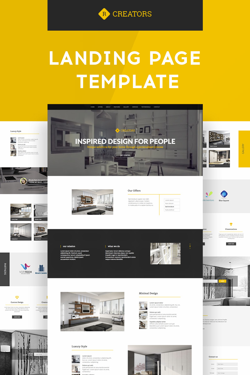Creators | Responsive Landing Page Template