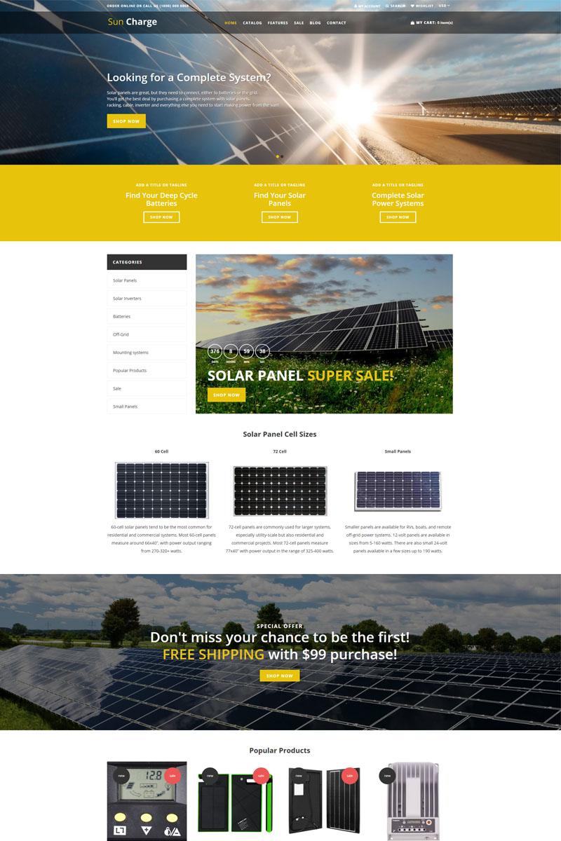 Sun Charge - Industrial Multilanguage Futuristic Shopify Theme