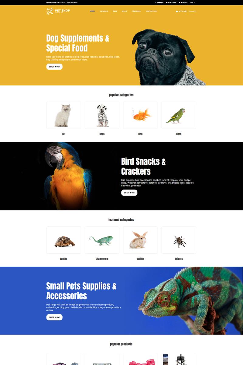 Pet Shop - Animals Bright Shopify Theme