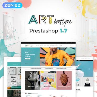 Template Artă și fotografie PrestaShop #76349