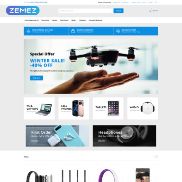Template Electronice OpenCart #76378