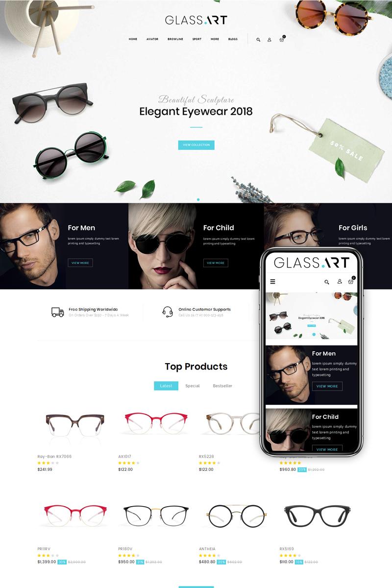 GlassArt - Sunglass Store OpenCart Template