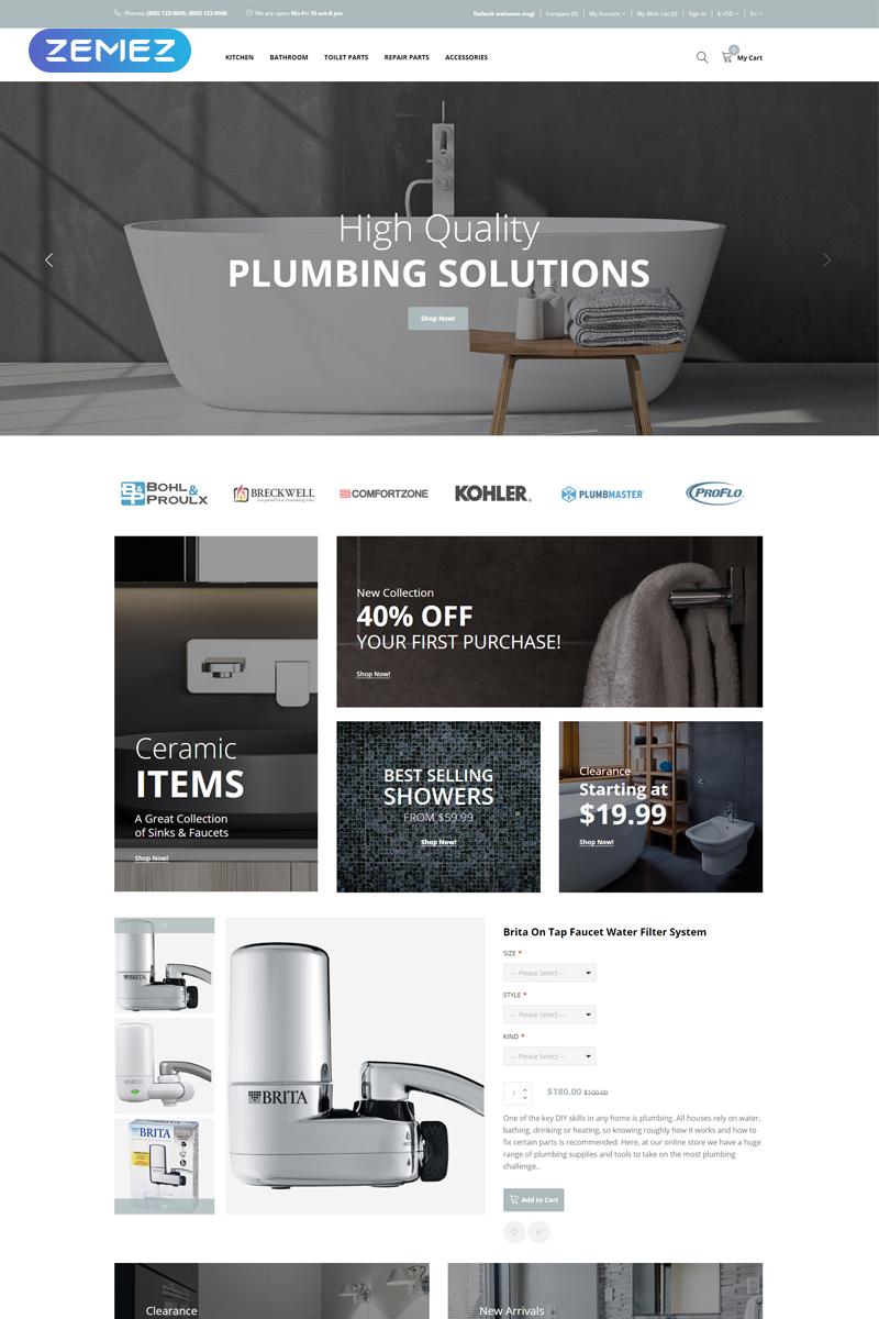 Plumbix - Plumbing Functional Clean OpenCart Template