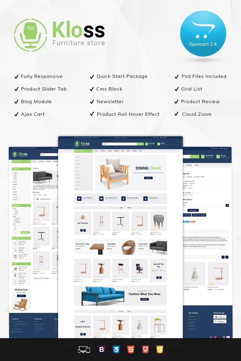 Kloss Furniture Store Responsive OpenCart Template