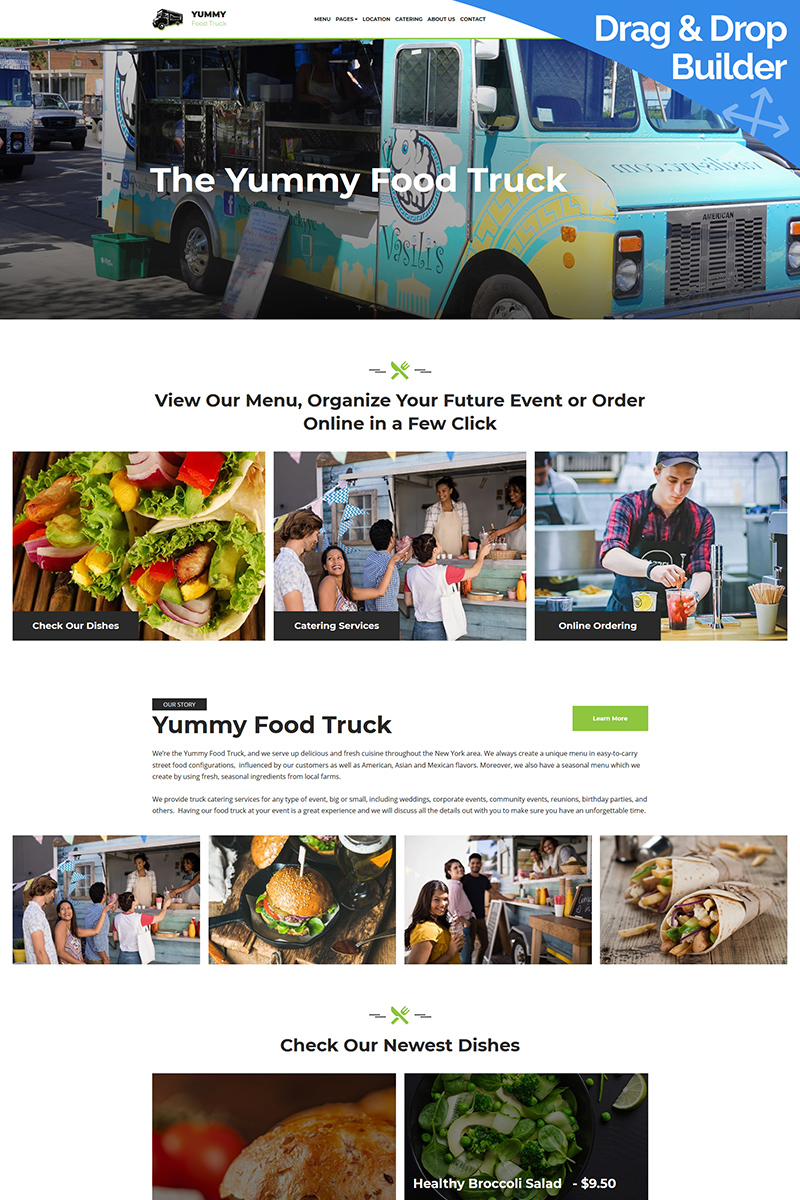 Food Truck Moto CMS 3 Template