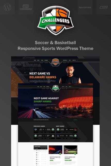 Tema para wordpress - Categoría: Deportes - versión para Desktop