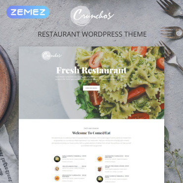 Template Cafenele și restaurante WordPress #77397