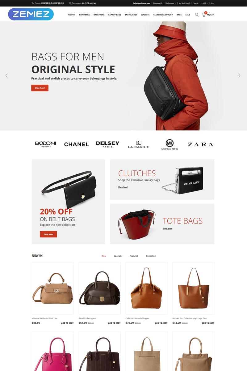 hBags - Handbag Multipage Clean OpenCart Template