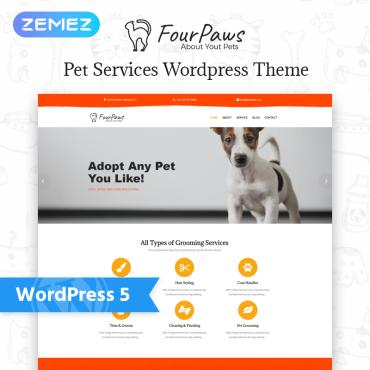 Template Animale de companie WordPress #77545