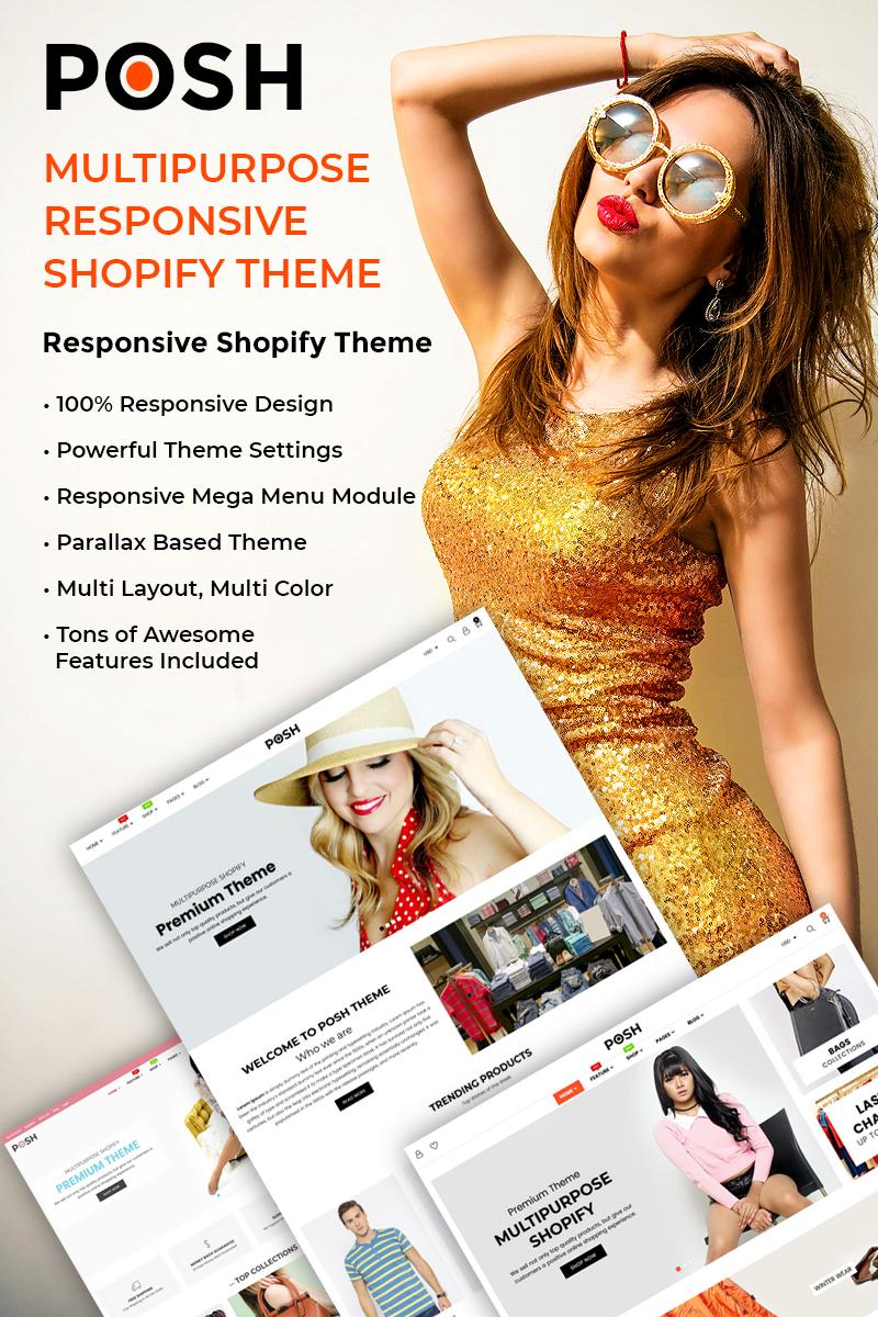 Template 77546 : Posh - Simple, Clean & Minimalist Responsive