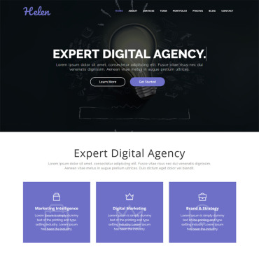 Template Afaceri Landing Page #77585